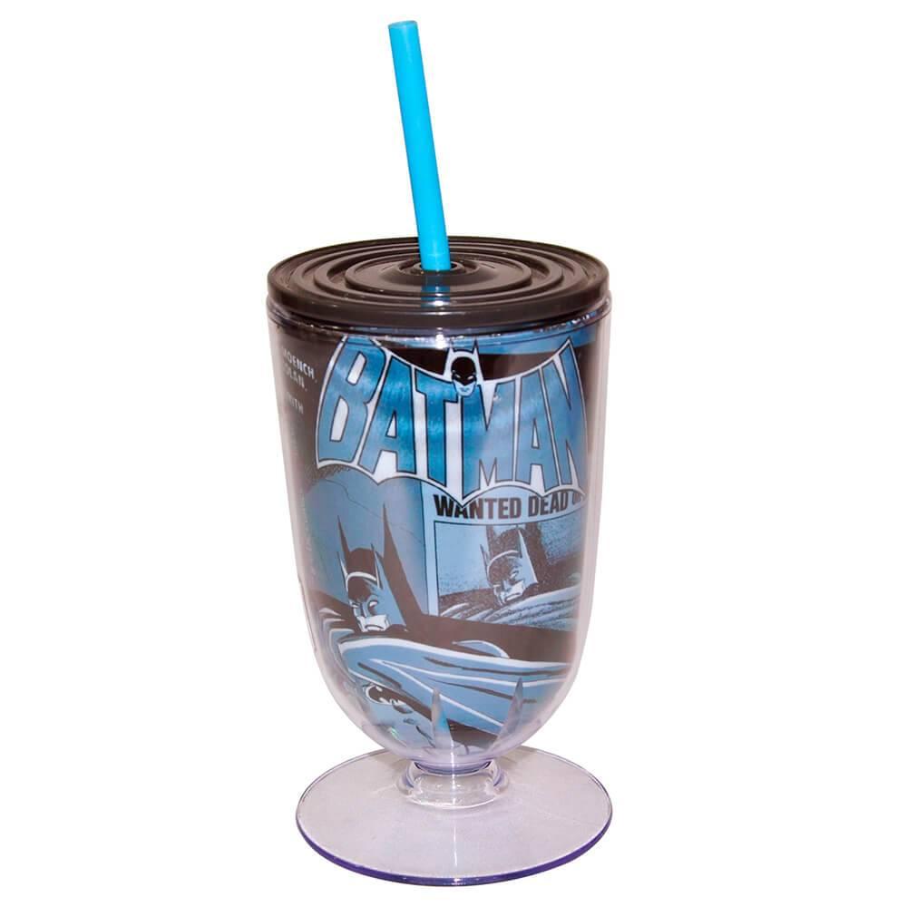Taça DC Comics Batman Shadown 550 ml Azul em Acrílico - Urban - 25x10,5 cm