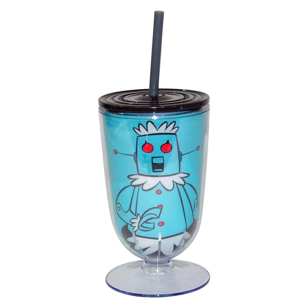Taça Hanna Barbera The Jetsons Rose Fundo Azul em Acrílico - Urban - 25x10,5 cm