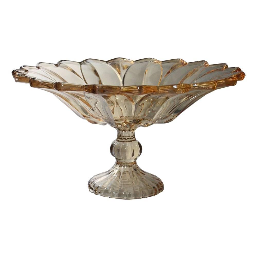 Taça Lemvig Ambar em Vidro - 32x18 cm
