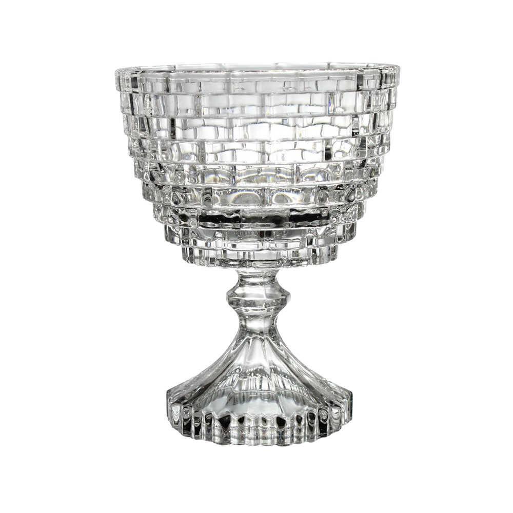 Taça Lumen Brick Pequeno Transparente em Vidro - 14,5x11,5 cm