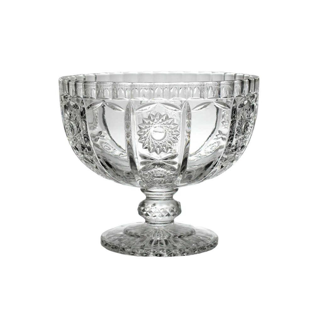 Taça Madigan Transparente Pequeno em Vidro - 15,5x13,5 cm