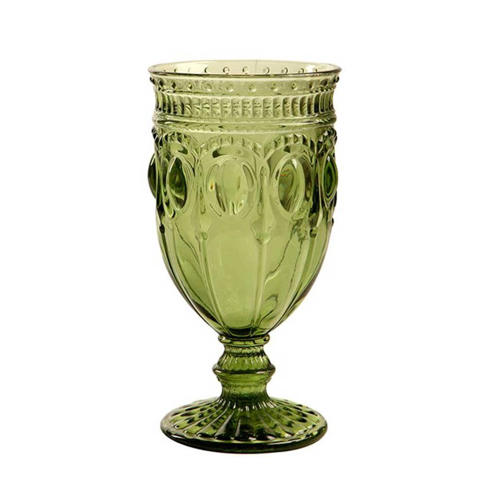 Taça para Vinho Jewelry Verde - 350 ml - em Vidro - 17x9 cm