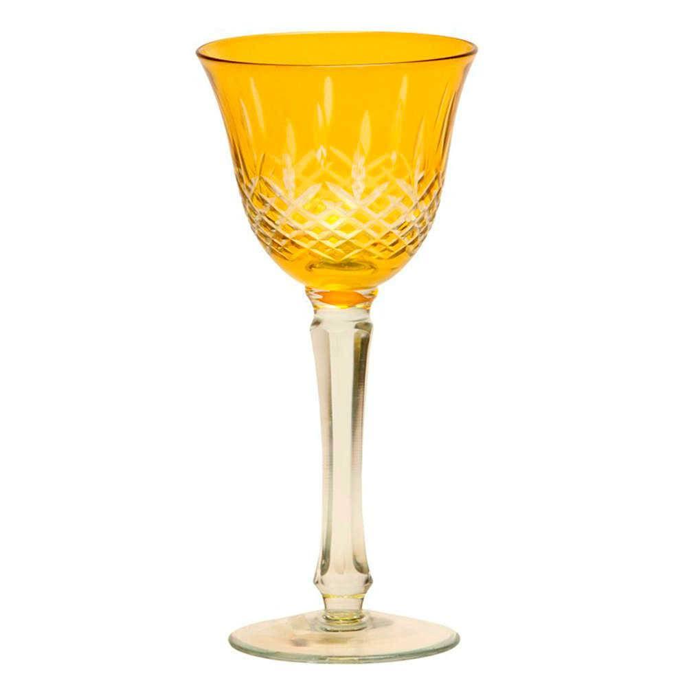 Taça para Vinho Monet Amarelo - 180 ml - em Vidro - 21x9 cm