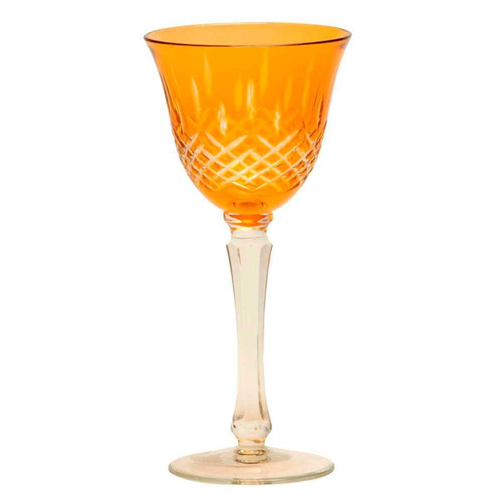Taça para Vinho Monet Laranja - 180 ml - em Vidro - 21x9 cm