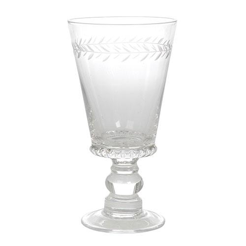 Taça de Vinho Tinto Vague Transparente em Vidro - 17x9 cm