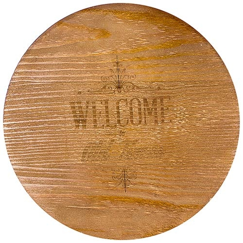 Tampo de Mesa Redondo Welcome To Old Times Oldway - 65x65x4 cm