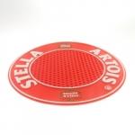 Tapete Bar Redondo Stella Artois em Borracha - 25 cm