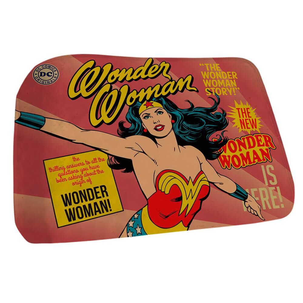 Tapete DC Comics Wonder Woman Cover Page Rosa em Poliéster - Urban - 70x40 cm
