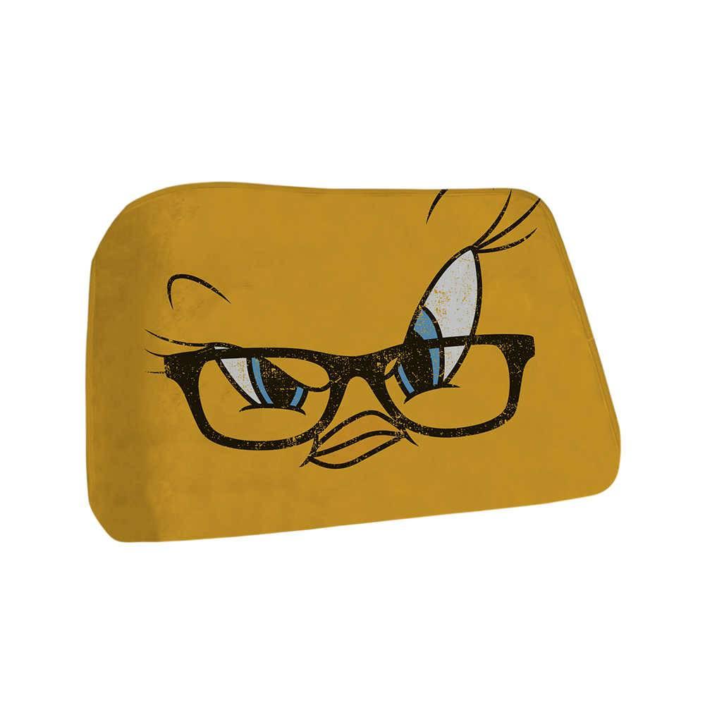 Tapete Looney Tunes Tweety Big Face Amarelo em Poliéster Fluffy - Urban - 70x45 cm