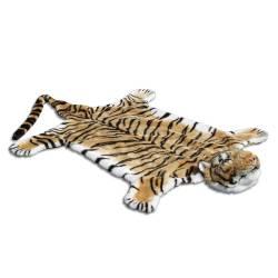 Tapete Tigre em Pelúcia - Urban - 2,15x1,20 cm