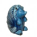 Tatu Cerâmica Azul de Pé