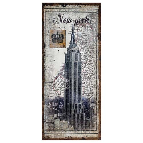 Tela Antiga Empire New York Linho Oldway - 127x56 cm