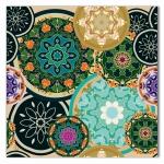 Tela Arabesco Mandala Impressão em Tecido