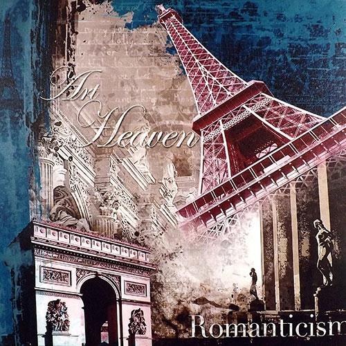 Tela Art Haven Torre Eiffel Romanticis - Impressão Digital- 50x50 cm