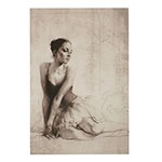 Tela Bailarina em Preto e Branco