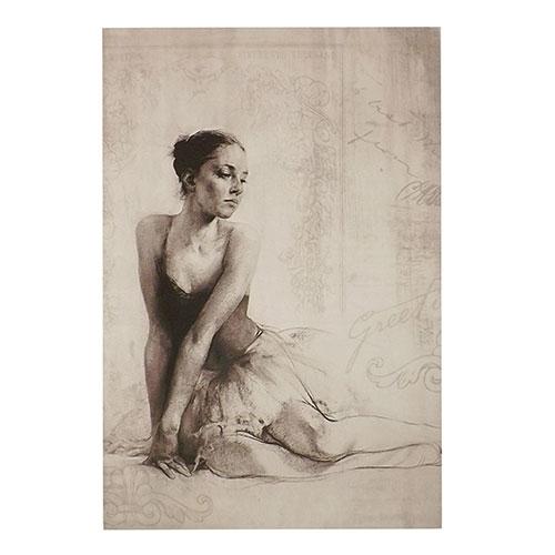 Tela Bailarina em Preto e Branco - Impressão Digital - 40x60cm