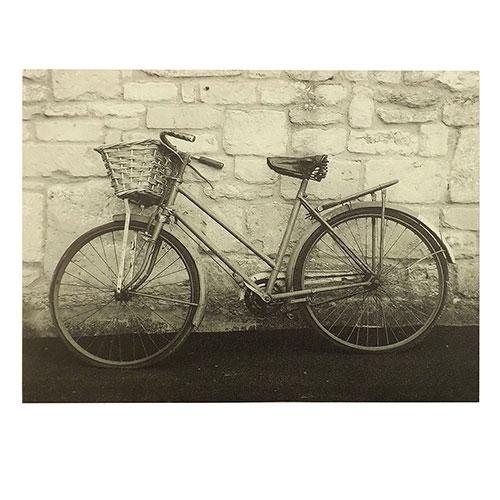 Tela Bicicleta com Cesto - Impressão Digital - 40x30 cm