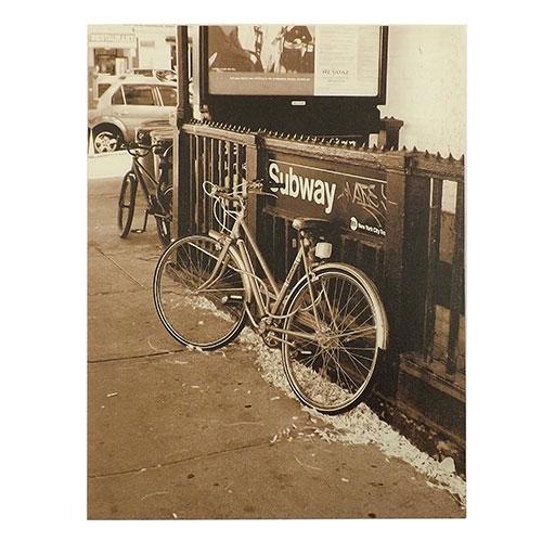 Tela Bicicleta no Subway - Impressão Digital - 30x40 cm