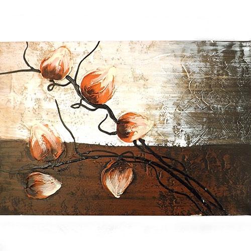 Tela Botões de Flores Vermelhas - Impressão Digital - 40x30 cm