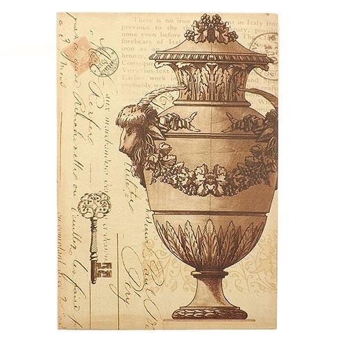 Tela Carta Postal Chave com Vaso - Impressão Digital - 25x36 cm