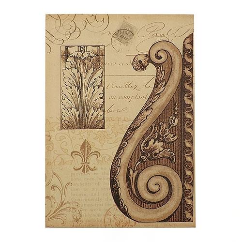 Tela Cartão Postal com Carimbo - Impressão Digital - 36x25 cm