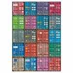 Tela Containers Colorida em MDF - Urban - 100x70 cm