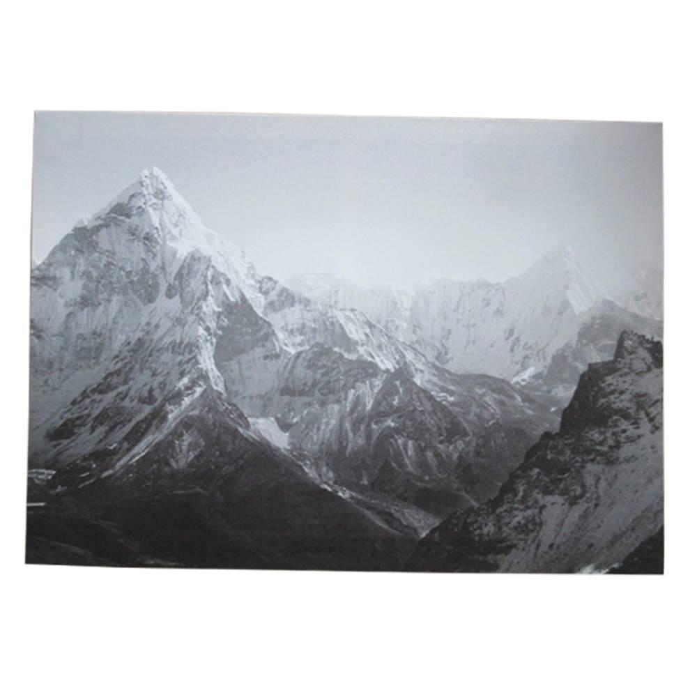 Tela Dark Ice Mountains Cinza em MDF - Urban - 70x50 cm