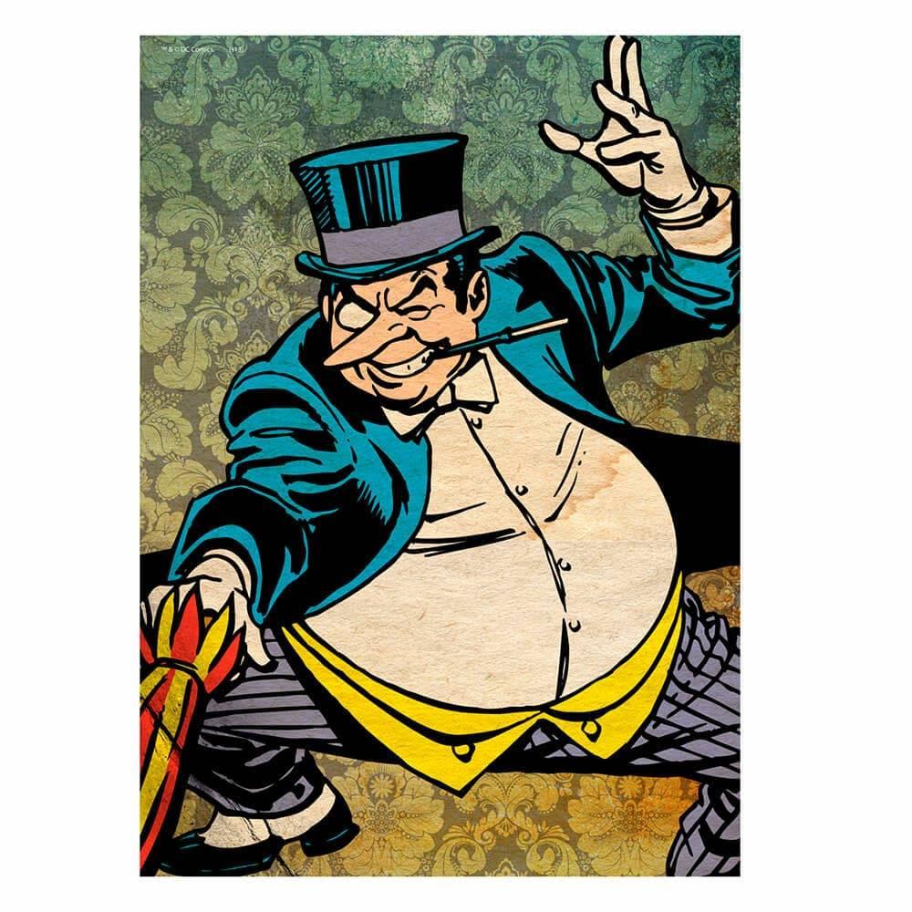Tela DC Comics Pinguim Colorido - Urban - 70x50 cm