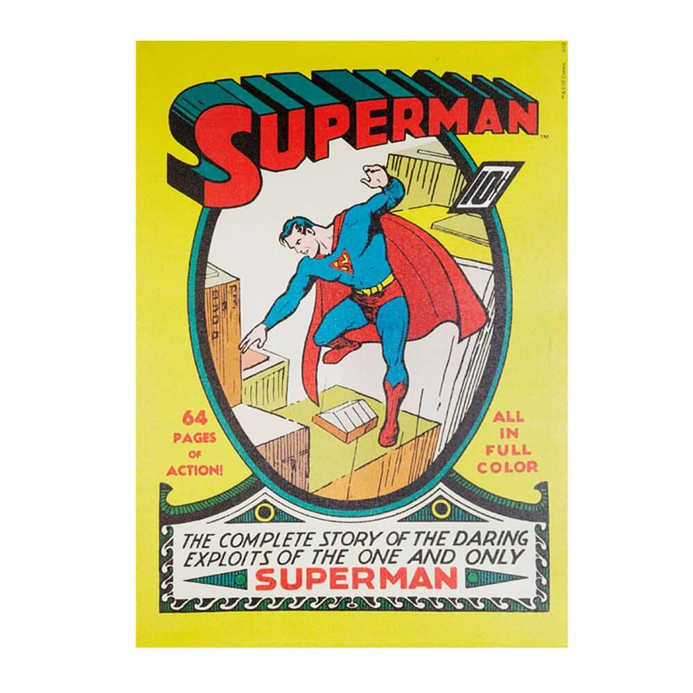 Tela DC Comics Superman Amarelo - Urban - 70x50 cm