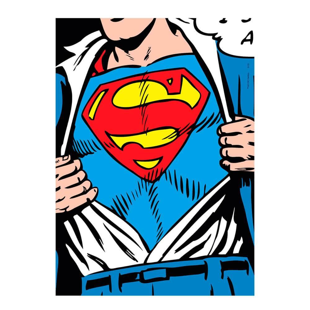 Tela DC Comics Superman Azul - Urban - 70x50 cm