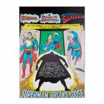 Tela DC Comics Superman Breaks Colorido - Urban - 70x50 cm