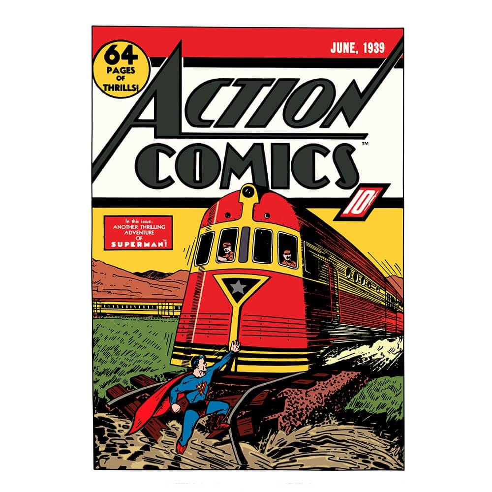 Tela DC Comics Superman Trem Colorido - Urban - 70x50 cm