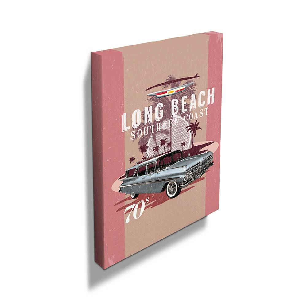 Tela Decorativa GM Long Beach Fundo Vintage - Urban - 60x40 cm