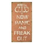 Tela Escrita Now Panic
