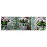 Tela Flores Quietude Nature Fullway - 30x100 cm