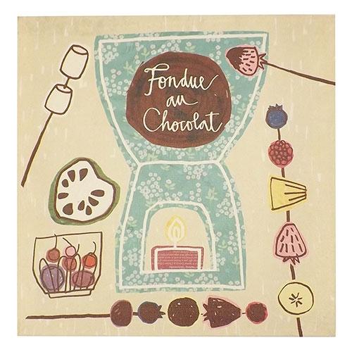 Tela Fondue de Chocolate - Impressão Digital - 28x28 cm