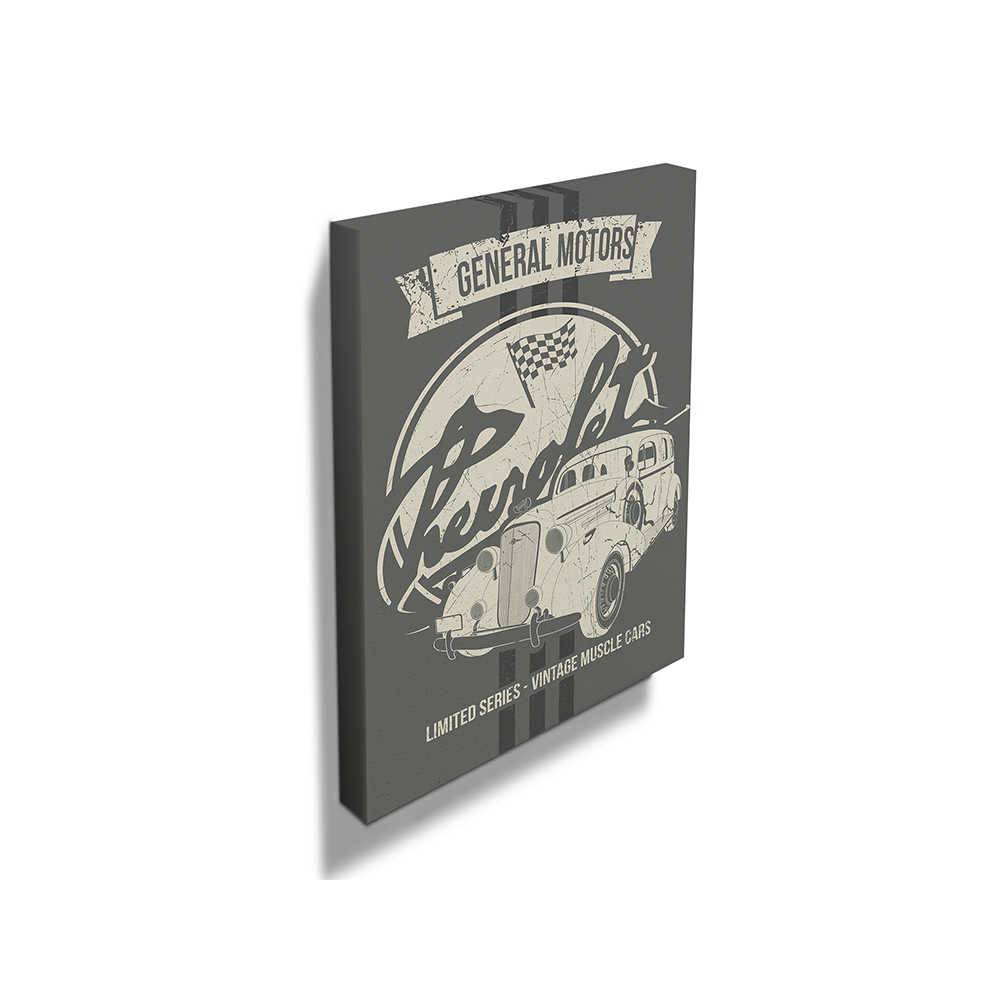 Tela GM Master Deluxe Limited Edition Fundo Cinza em Madeira - Urban - 40x40 cm