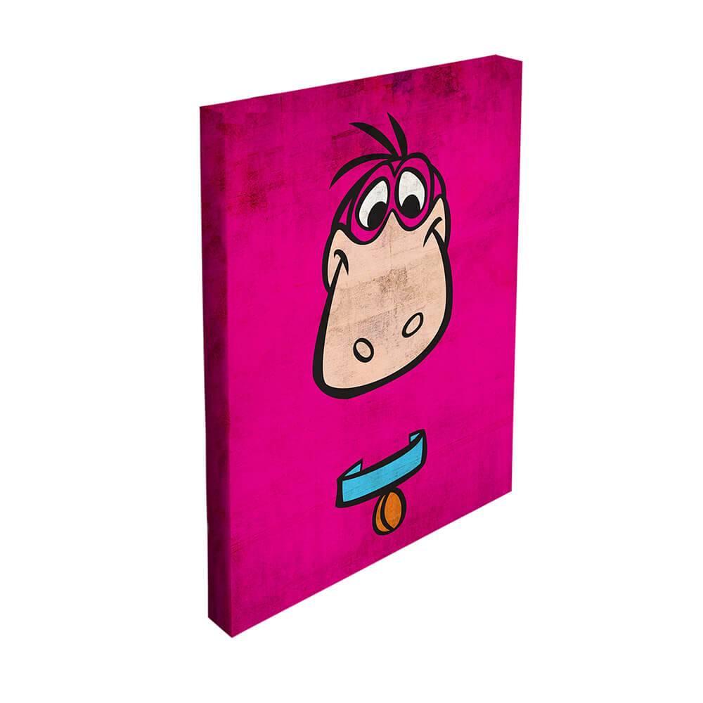 Tela Hanna Barbera Flintstones Dino Face Rosa - Urban - 50x40 cm