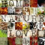 Tela Home Nature Love  Quadrados Coloridos em MDF - Urban