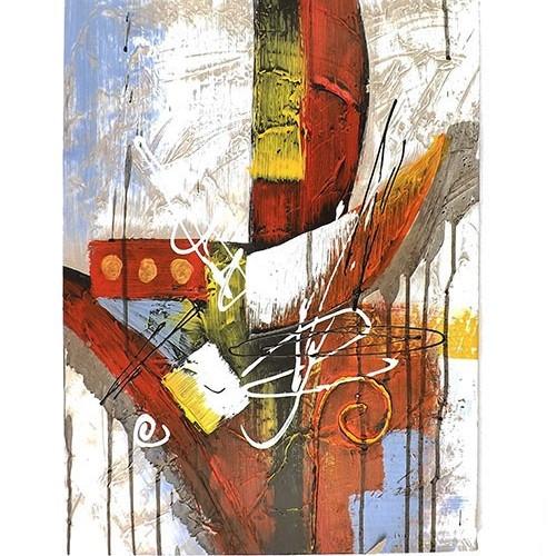 Tela Imagem Contemporânea Abstrata - Impressão Digital - 40x50 cm