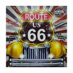 Tela Impresa com Led Route 66 Yellow Fullway - 80x80x4 cm