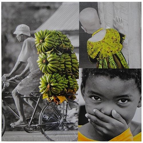 Tela Impressa Africa Banana Fullway - 80x80 cm