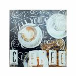 Tela Impressa All Need Is Love Coffee Fullway - 60x60x4 cm