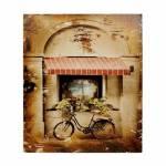 Tela Impressa Antique Cafe Biciclett Oldway - 50x60x3 cm