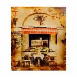 Tela Impressa Antique Café Oldway - 50x60x3 cm