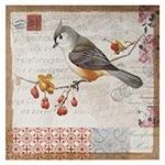Tela Impressa Antique Pássaro Paris Oldway