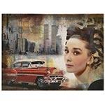 Tela Impressa Audrey Hepburn Red Car Oldway