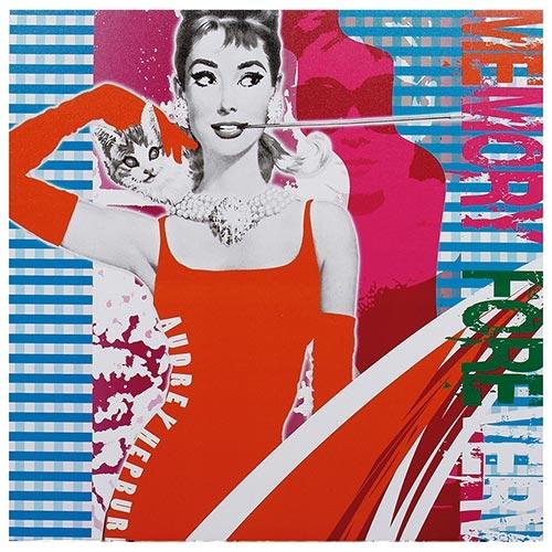 Tela Impressa Audrey Vestido Vermelho Fullway - 50x50 cm