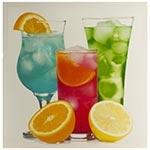 Tela Impressa Bebidas com Laranja Fullway - 40x40 cm