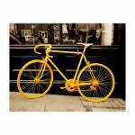 Tela Impressa Bicicleta Amarela Oldway - 120x158x4 cm